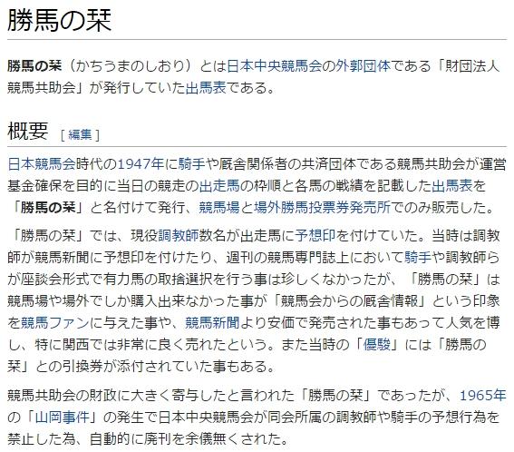 勝馬の栞 Wiki
